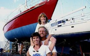 Skipper Henk Haazen and family - including Tiama
