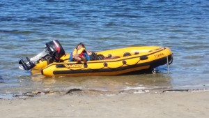 First Mate Steve Parsons taking a well deserved nap while waiting on the Sea lion team to return